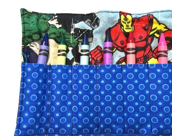 Avengers Crayon Roll
