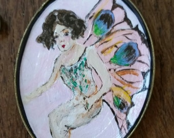 Hand Painted Fairy Necklace