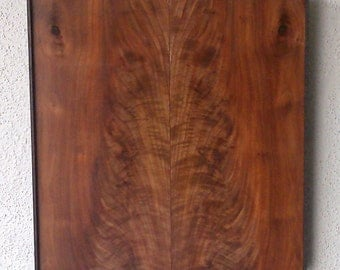 Bookmatched Black Walnut & Dyed Oak Abstract Wood Wall Art Artist Signed No. 176