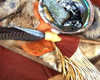 Smudge Fan Prayer Feather Ceremonial Feathers Blessing Feathers Sage Burning Cleansing Feathers Turkey Pheasant Rooster
