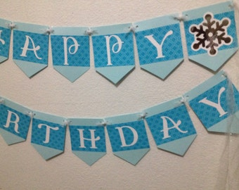 Frozen inspired birthday party banner - set of 2 banners