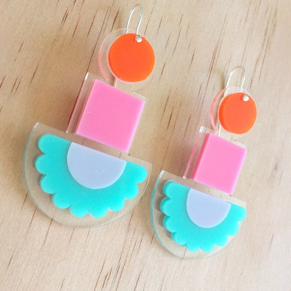 Happy Totem Drops - Laser Cut Acrylic Earrings - Each To Own