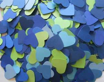 1000 Heart Confetti. 1 Inch. CHOOSE YOUR COLORS. Weddings, Showers, Decorations.