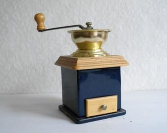 Vintage Coffee Grinder with Ceramic Body