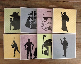 Galactic Ceramic Tile Coasters