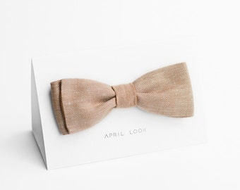 Bow tie in dusty peach - double sided, MADE TO ORDER