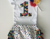 Hungry Caterpillar First 1st Birthday Onesie, Ruffle Diaper Cover & Headband Set YOU CHOOSE SIZE