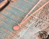 Rose Gold Initial Charm Necklace/ Layering rose gold necklace