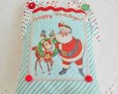 SALE  Retro Inspired Christmas Decoration/Door hanger