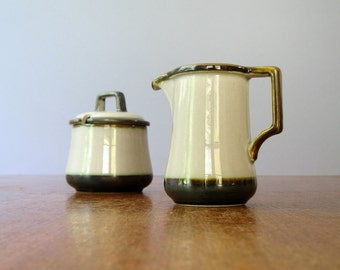 Vintage Bing and Grondahl Tema Sugar Bowl / Creamer