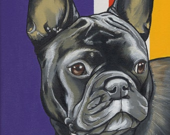 Original French Bulldog Painting 23x30cm