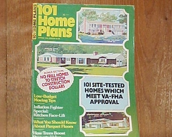 1970's House Plans Book - Mid Century Architectural Designs - 101 Home Plans - Spring 1976