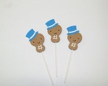 Baby Peanut Cupcake Toppers/ Boy Birthday/ Baby Shower/ Party