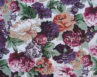 C2026 - 1 meter  Cotton Fabric - beautiful flowers(145cm width)