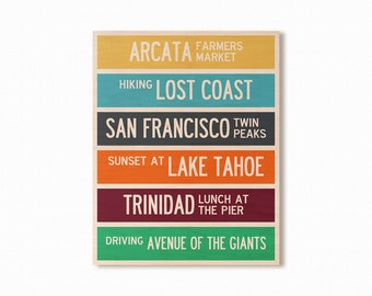 CUSTOMIZABLE Destination Wall Art, Where is your adventure?