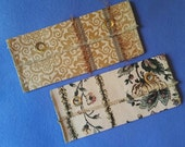 Upcycled Upholstery Evening Bag Clutch - gold damask or ivory floral