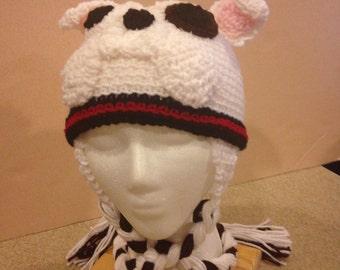 Crochet Bulldog Hat/Beanie