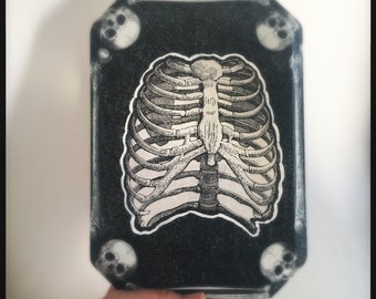 Skeleton Rib Cage halloween wal art
