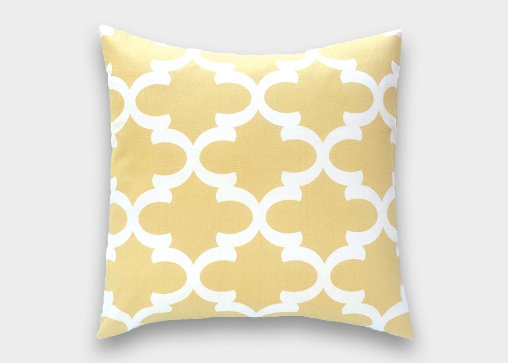 Throw Pillows Malum : Saffron Yellow Moroccan Throw Pillow Cover. All Sizes. Pale