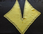 """VINTAGE """"Vera"""" Scarf - """"Wing Tip"""" - one of the oldest of her scarves I have seen, rich Lime Green with black trim, """"Pure Silk, Hand Rolled"""""""
