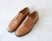 Vintage 90's Ralph Lauren Mens Brown Leather Oxfords size 11 1/2 D