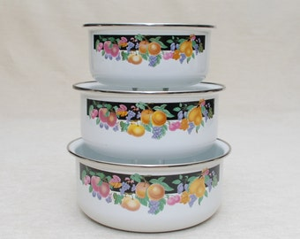 Serving bowls-Dinner-Floral design-Metal-Cooking-Bridal Shower-Gift