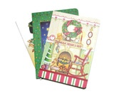 Holiday Assorted Blank Journals Set of Three 5x7 Christmas Motiff Designs Inspiration Supplies