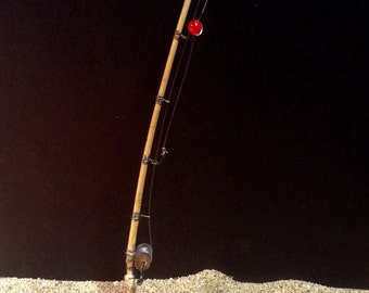 "Miniature 6"" Fishing Pole Rod 1:12 Scale Dollhouse"