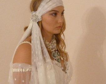 Bohemian Ivory Lace Headband