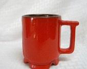 Frankoma vintage pottery red coffee or cocoa mug