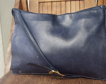 KEEPER   ///   Blue Leather Purse