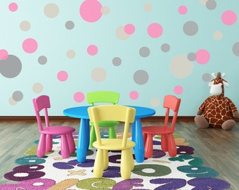 Circles & Dots Vinyl Decals - Nursery Wall Decal - Many Color Choices
