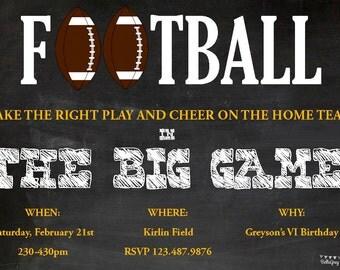 Football birthday invitation. Football party. Football invitation. Football Down Set Hut. Sports Theme Birthday Party Invitation
