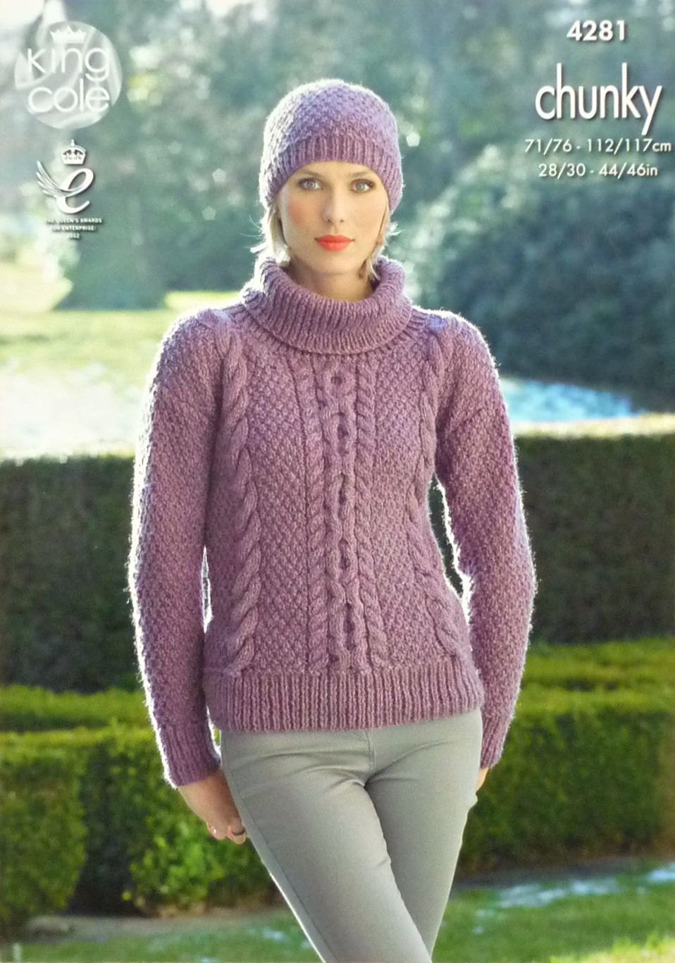 Knitting Pattern Ladies Cowl Neck Jumper : Womens Knitting Pattern K4281 Ladies Long Sleeve Cowl Neck Cable Jumper and H...