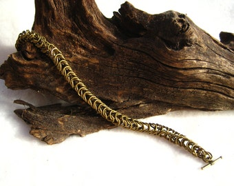 Antique Gold Chainmaille Bracelet