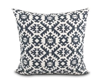 Southwest pillow Desert Modern style.  Washable pillow cover.  Tribal pillow.  Gray and white pillow. Man cave pillow. Zipper pillow Sedona