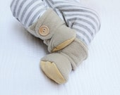 Tan Baby Booties. Boots. Children Fashion. Cozy. Leather Sole. Winter Fashion. Shoes and Slippers. Toddler. Children.