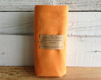 Organic Baby Bedding, Crib Sheet, Changing Pad Cover - Hand Dyed Orange Dreamsicle