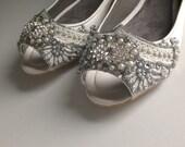 Gatsby Peep Toe Ballet Flat Wedding shoes