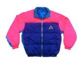 Rad 90s Neon McKinley Puffy Quilted Ski Jacket - XL