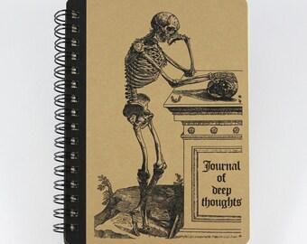 "Spiral Notebook ""Journal of Deep Thoughts"", Small Notebook"