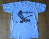SALE///Vintage BB KING World Tour 1988-1989 Baby Blue Concert T Shirt, Size M