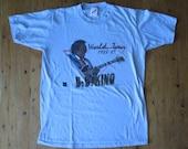 Vintage BB KING World Tour 1988-1989 Baby Blue Concert T Shirt, Size M