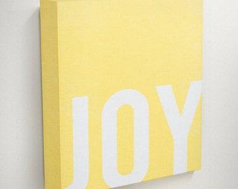 Joy, Happiness, Modern Christmas, Typography Canvas, Dorm Wall Art, Inspirational Wall Art, Motivational Wall Art, Home Decor, Wall Decor