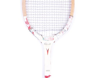 Wooden Tennis Racket / All Pro Classic Tennis Racket / Racquet / Antique Red Tennis Racket / Wooden Racquet / Wood Tennis Racket