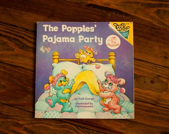 1986 Popples Children's Book - The Popples' Pajama Party