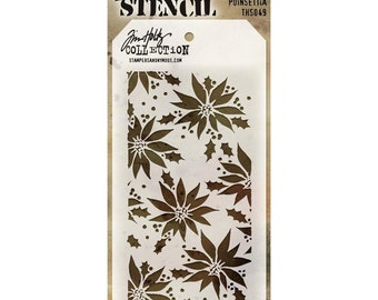 POINSETTIA LAYERING STENCIL by Tim Holtz