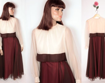 vintage Emma Domb dress // full skirt