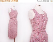 SALE 1970s Floral Dress / Vintage 70s Sundress / Small Medium