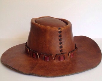 High Quality Leather Cowboy Hat - ON SALE